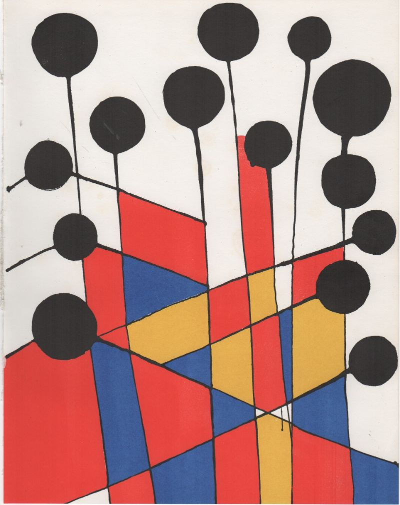 ALEXANDER-CALDER--LITHOGRAPH-OUT-OF-XXe-Siècle-No-37,-1971-(SA1:2,-18)