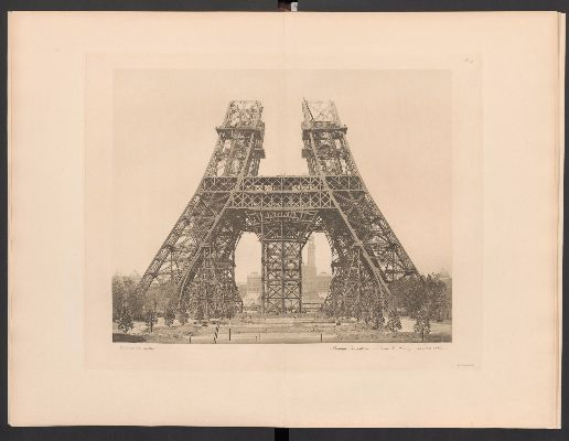 Costruzione-della-Torre-Eiffel,-secondo-livello