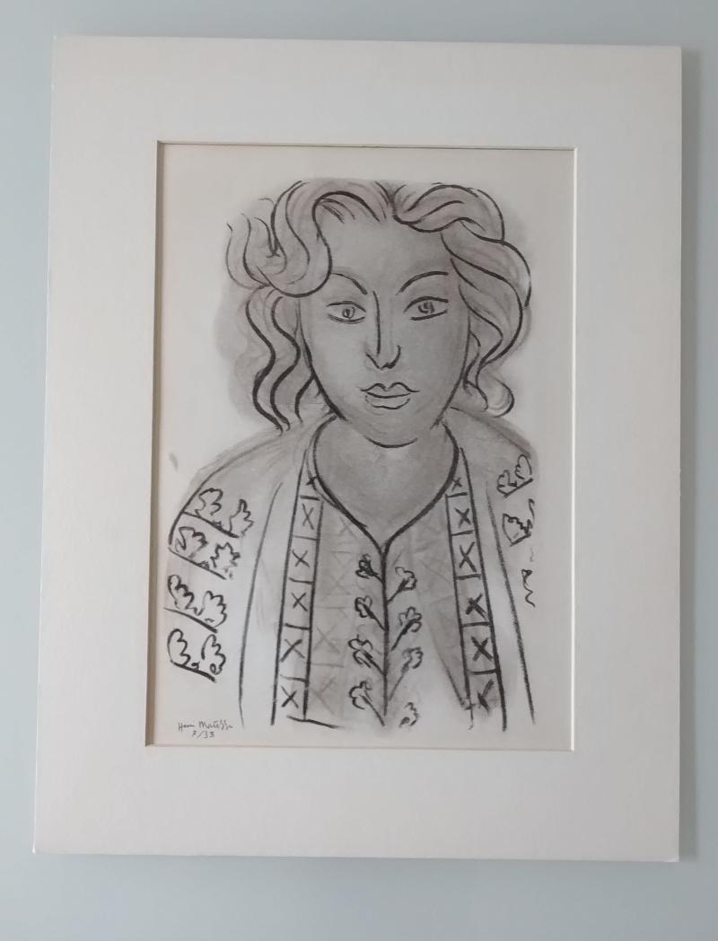 Henry-Matisse---Ritratto-2,--Litografia-originale-firmata-su-lastra