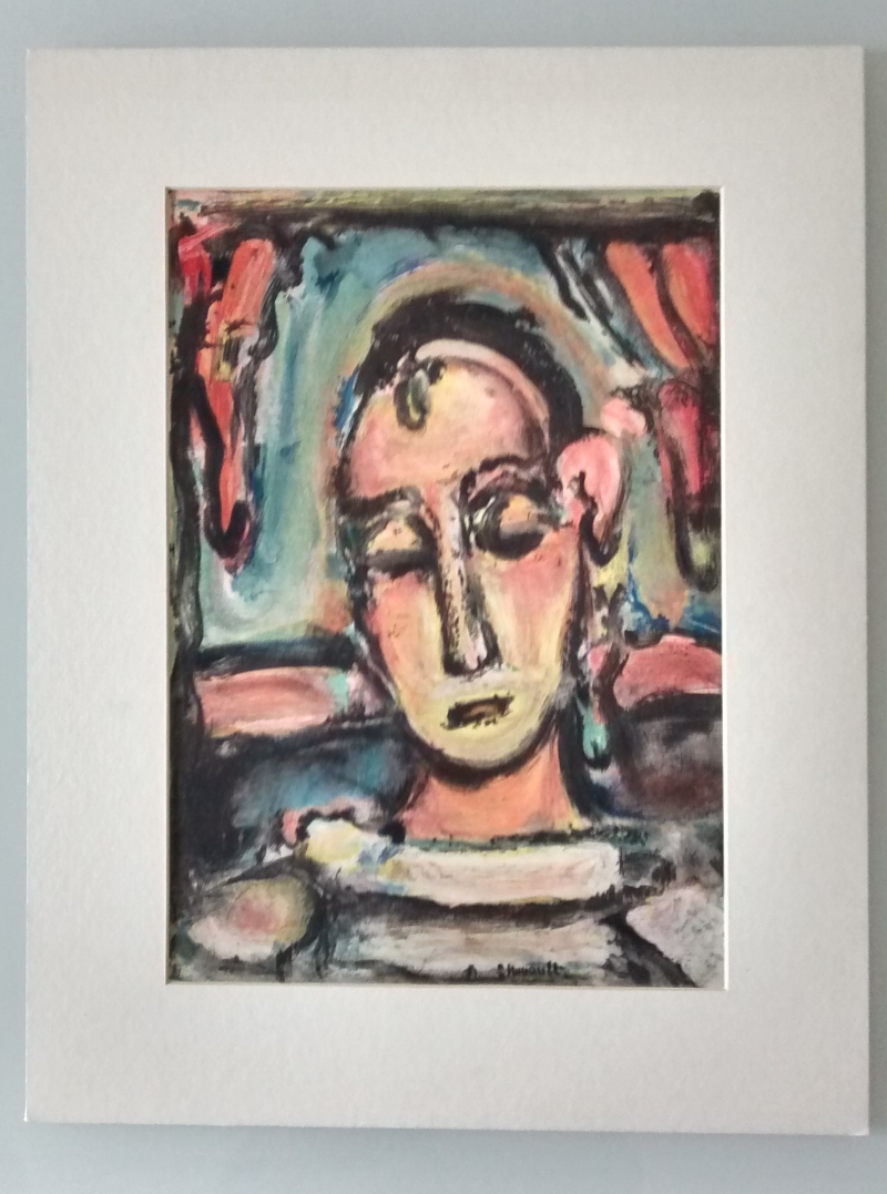 "Roualt-Georges-litografia-""Tete-de-jeune-fille""-1939"