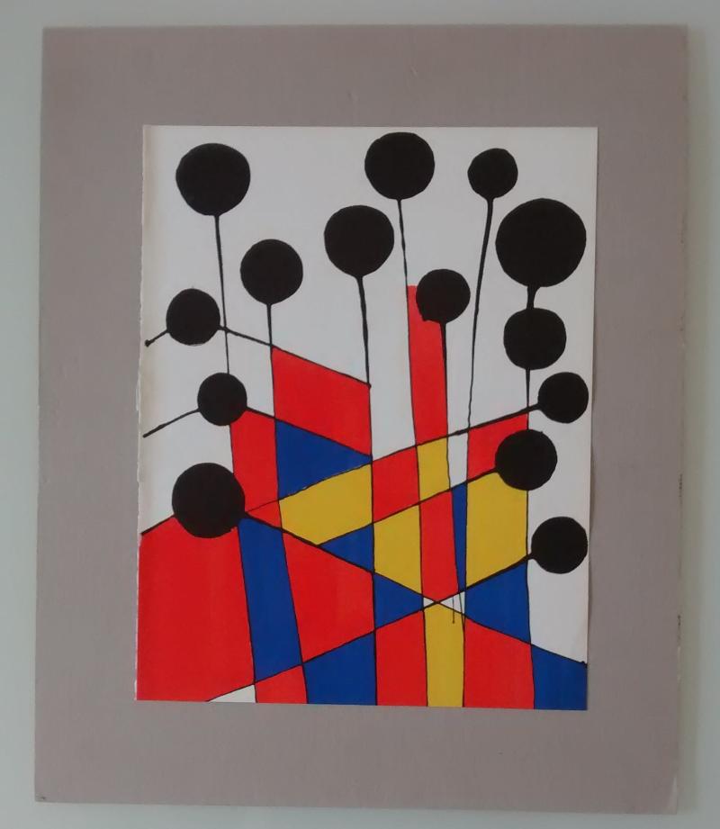 Alexander-Calder-original-litograph,-1971
