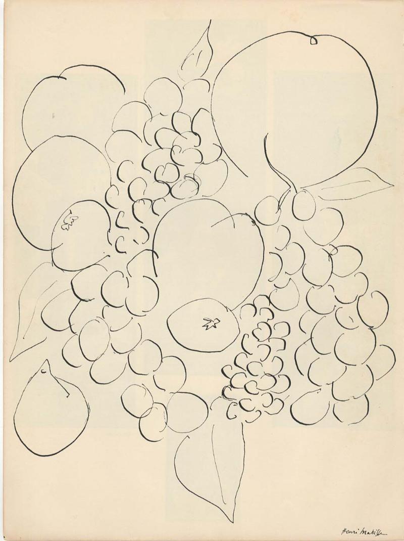 "HENRI-MATISSE---""REMEMBER""-litografia-originale-1939"