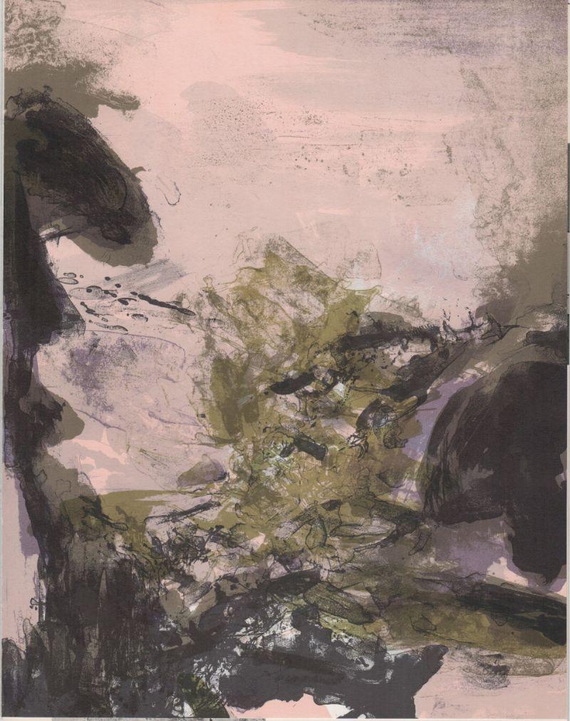 Zao-Wou-Ki---Paysage,-lithographie-1971-